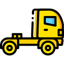 Delivery, transportation, truck, transport, vehicle, Automobile, Delivery Truck, Cargo Truck Black icon