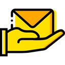 mail, Letter, Business, Delivery, Shipping And Delivery Gold icon