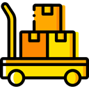 Cart, trolley, Delivery, deliver, items, Delivery Cart, Shipping And Delivery Icon