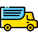 truck, transport, vehicle, Automobile, Delivery Truck, Cargo Truck, Shipping And Delivery, Delivery, transportation Black icon