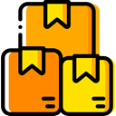 Boxes, package, Box, packaging, packages, Delivery, cardboard, Shipping And Delivery Orange icon