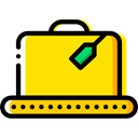 Briefcase, Bag, suitcase, travel, Business, portfolio Gold icon