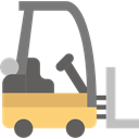 Fork, transportation, Forklift, Industrial, Shipping And Delivery, truck, transport, vehicle, lift Black icon
