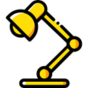light, illumination, lamp, technology, Desk lamp, Tools And Utensils, Business And Finance Black icon