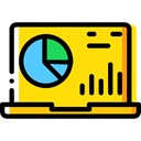 Computer, Business, Stats, Analytics, graphic, Computering, Business And Finance, Laptop Gold icon