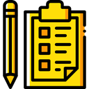 Clipboard, list, miscellaneous, Tasks, checking, Verification, Tools And Utensils, Business And Finance Gold icon