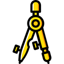 Drawing, miscellaneous, Draw, compass, School Materials, Tools And Utensils, Business And Finance Black icon