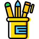 education, writing, pencil case, School Material, Office Material, Edit Tools, Business And Finance Black icon