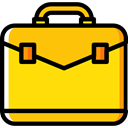 Business, Briefcase, Bag, suitcase, portfolio, Business And Finance Gold icon