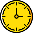 Clock, time, watch, tool, square, Tools And Utensils, Business And Finance Gold icon