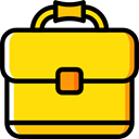 Business And Finance, Business, Briefcase, Bag, suitcase, portfolio Gold icon