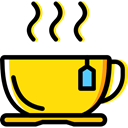 Tea Cup, Food And Restaurant, Business And Finance, Coffee, food, mug, hot drink Gold icon