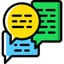 Multimedia, Chat, Communication, speech bubble, Conversation, Business And Finance Black icon