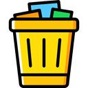 Trash, interface, Basket, Bin, Garbage, Can, Tools And Utensils, Business And Finance Gold icon