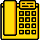 Business And Finance, phone, Call, telephone, technology, Conversation, phone call, Telephone Call Gold icon