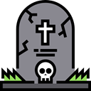 halloween, horror, Terror, Cemetery, tombstone, Rip, spooky, scary, fear Gray icon