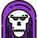 death, halloween, horror, Terror, spooky, scary, fear DarkOrchid icon