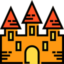Castle, fortress, Construction, buildings, Architecture And City, Monument, Fantasy, medieval, Monuments DarkOrange icon