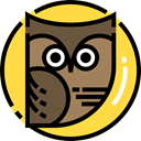 bird, hunter, owl, Animals SandyBrown icon