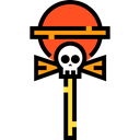 Face, food, stick, Candy, scary, Popsicle Stick, Food And Restaurant, halloween, sweet, Lollipop, popsicle Black icon
