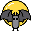 bat, zoo, Animals, Wild Life, Animal Kingdom SandyBrown icon