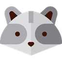 Animal, America, Animals, mammal, wild, wildlife, raccoon DarkGray icon