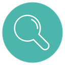 Content, magnifying glass, line, Circle, Edit, search CadetBlue icon
