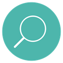 Thin, line, Circle, Content, Edit, search, magnifying glass CadetBlue icon