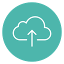 Arrow, Up, Cloud, upload, Circle, Content CadetBlue icon