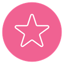 Circle, Content, star, Favorite PaleVioletRed icon
