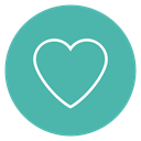 Circle, Content, Favorite, Heart, love CadetBlue icon