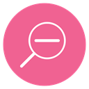 Content, Thin, Zoom out, zoom, Minus, Circle, search PaleVioletRed icon