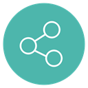 network, share, Circle, Content, Social CadetBlue icon