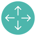 Circle, expand, Content, Move CadetBlue icon