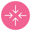 Content, reduce, Decrease, Circle PaleVioletRed icon