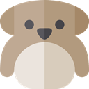 dog, pet, Animals, Bulldog, mammal, Animal Kingdom RosyBrown icon