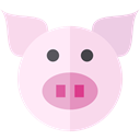 wildlife, Animal Kingdom, pig, zoo, Animals, Farm MistyRose icon
