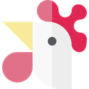 Animal, head, chicken, Animals, Farm WhiteSmoke icon