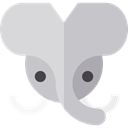 Wild Life, Animal Kingdom, elephant, zoo, Animals Silver icon