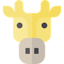 zoo, Animals, Giraffe, mammal, wildlife, Animal Kingdom Khaki icon