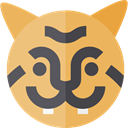 Tiger, zoo, Animals, mammal, wildlife, Animal Kingdom SandyBrown icon