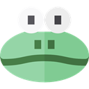 Animals, wildlife, Amphibian, Animal Kingdom, frog DarkSeaGreen icon