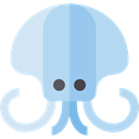 squid, Aquatic, Sea Life, Animal, Animals, Aquarium LightBlue icon