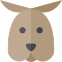 Animal, zoo, Animals, kangaroo, Wild Life, Animal Kingdom RosyBrown icon