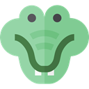 Animals, reptile, wildlife, Crocodile, Animal Kingdom, zoo DarkSeaGreen icon
