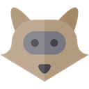 Animal, Animal Kingdom, zoo, Animals, racoon, Wild Life RosyBrown icon