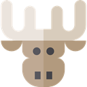 zoo, Animals, Moose, mammal, Wild Life, Animal Kingdom RosyBrown icon