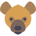 Animal, Africa, zoo, Animals, mammal, wild, wildlife, Hyena SandyBrown icon