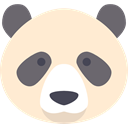 bear, panda, Animal Kingdom, Panda Bear, zoo, Animals, mammal, wildlife BlanchedAlmond icon
