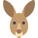 wildlife, kangaroo, zoo, Animals, mammal, wild, Animal, Australia DarkKhaki icon